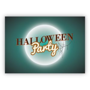 Coole Spinnweb Einladungskarte zu Halloween: Halloween Party